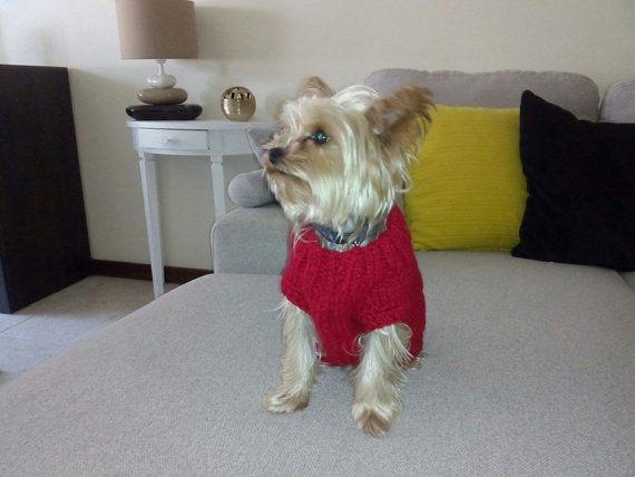 Jersey en gancillo de lana roja by CraftyRoad on Etsy