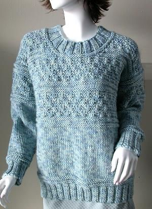 Iceland Gansey pullover -  free knit sweater pattern - Crystal Palace Yarns