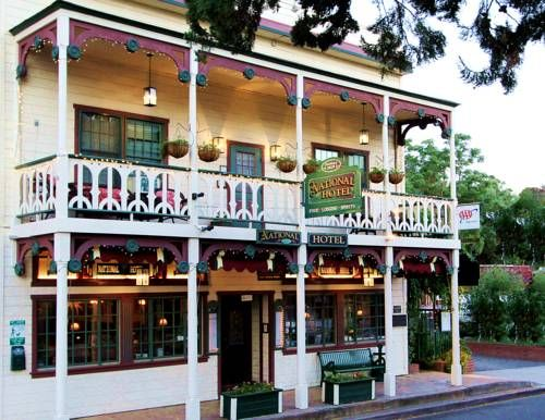 Historic National Hotel & Restaurant Jamestown (California) Built in 1859, this historic Jamestown hotel has its own house ghost and features an on-site restaurant and bar. Rooms include antique furniture and Yosemite National Park is 24 miles away.