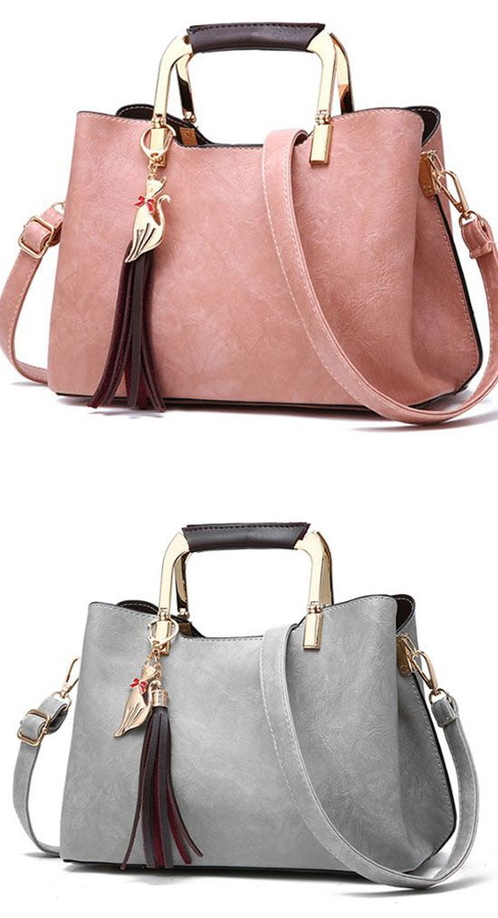 ba22204b5c Elegant PU Leather Handbag Casual Tote Lady Shoulder Bag handbag  Bag   school  college  student  canvas  leisure