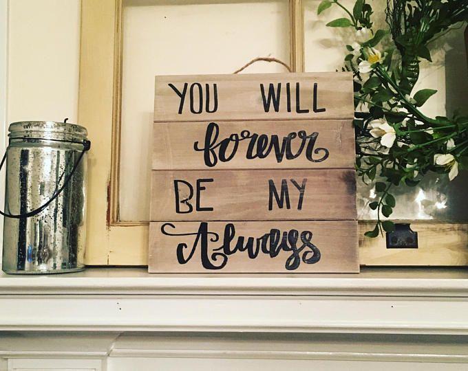 Bedroom wood sign, hand lettered sign, whitewashed sign, love sign, personalized wood sign, hand lettering sign, bedroom sign