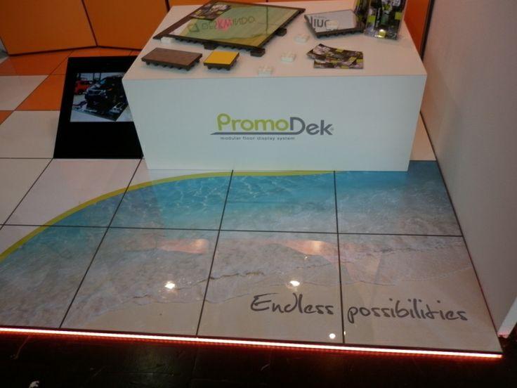 PromoDek - modular floor display system