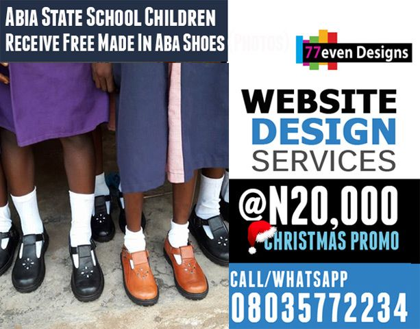 Abia State School Children Receive Free Made In Aba Shoes (Photos)   The Gov of Abia state, His Execellency Okepie Ikpeazu is definitely leaving o stone un-turn to make sure his state is the China of Africa. It was reported that the Gov has mandated that all school children should be given Aba made shoes and this must go round all our public schools. Akanu Item.... >>> See More >>>http://u.to/SyWPDw  ***************  You need a presence on the web and a tailor-made web
