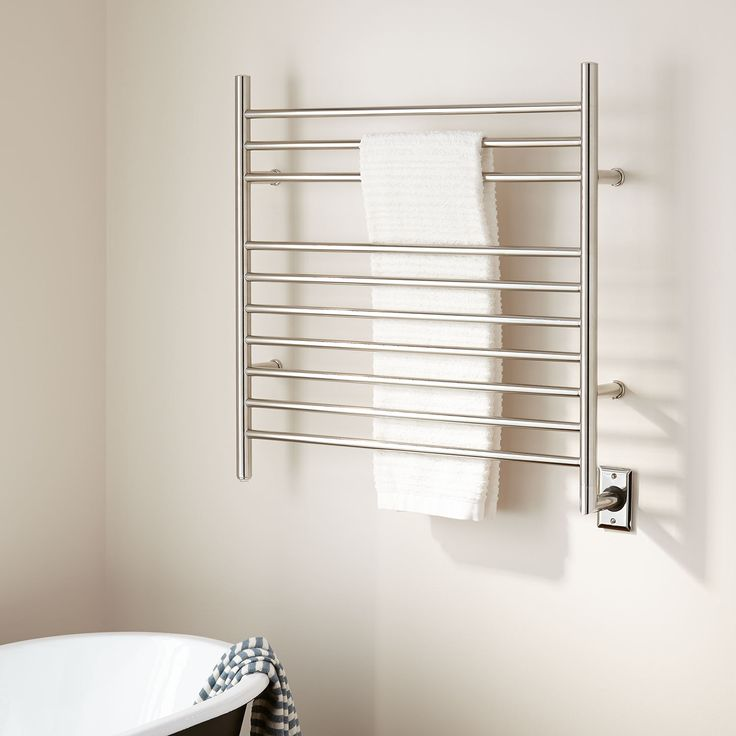 """33"""" Contemporary Hardwired Towel Warmer"""