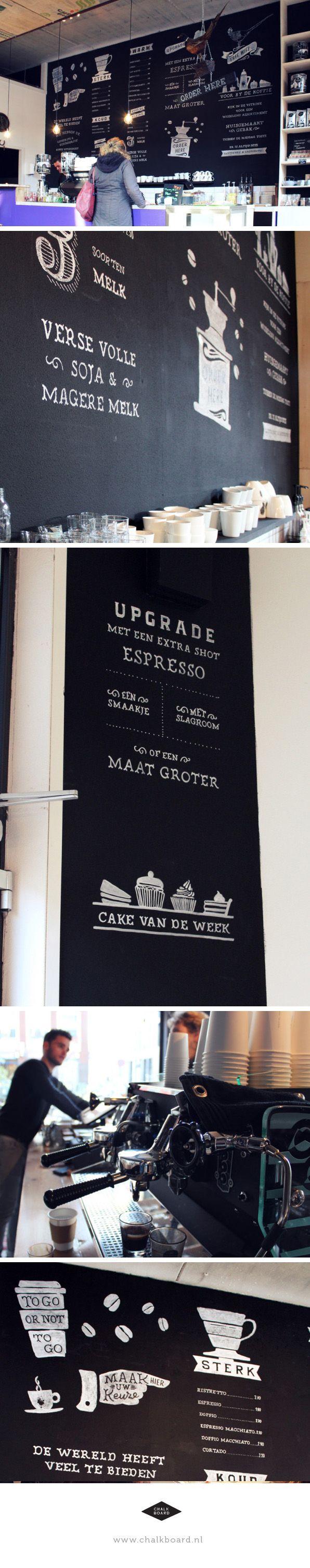 Krijtbordtekening voor Espressobar de Fazant in Veenendaal, bekijk het hele project op www.chalkboard.nl