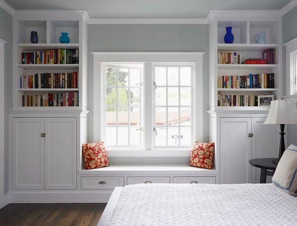 Built In Bookcases Around Window - Furniture : Home Design Ideas ...