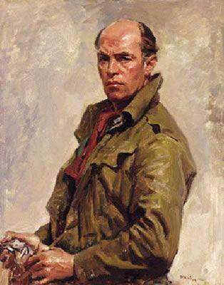 Sir Ivor H.T. Hele - self portrait 1959. Winner of 5 Archibald Prizes & official war artist. (1912-1993).