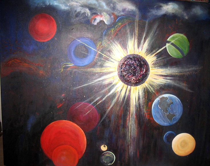Painting by Arlyn, World without end.
