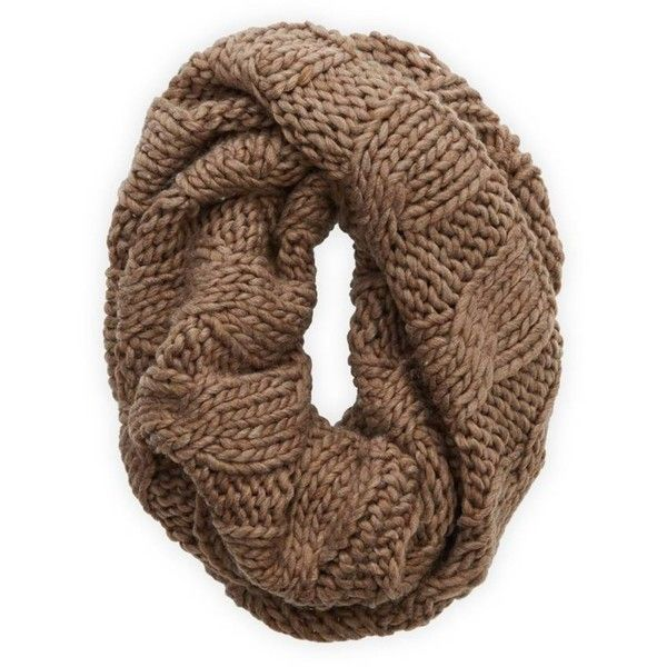 Aerie Open Knit Circle Scarf found on Polyvore