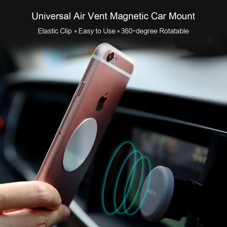 ROCK Magnet Car Phone Holder Air Vent Outlet Rotatable Mount Magnetic Phone Holder For iphone for Samsung stand Universal