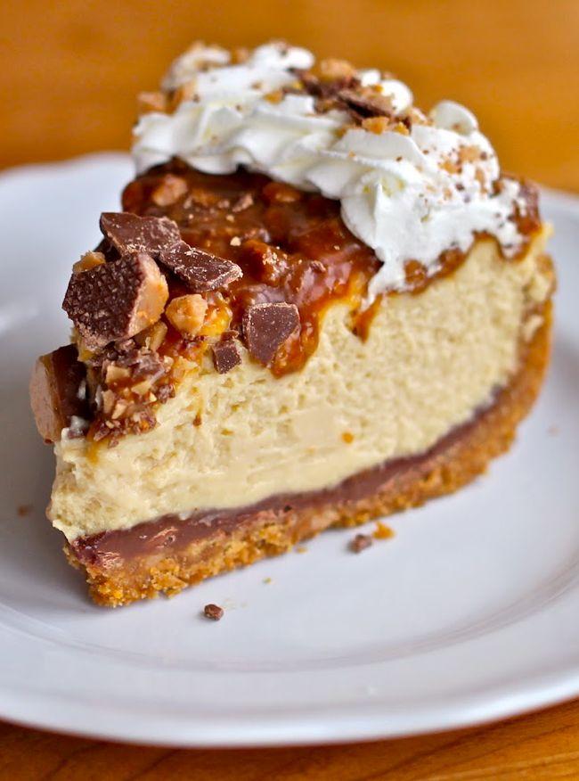 Yammie's Noshery: Caramel Toffee Crunch Cheesecake
