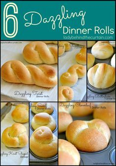 Say good-bye to the hours of kneading and making the perfect dinner rolls.  I have SIX Dazzling Dinner Rolls to share with you and they were ALL made using store bought frozen yeast dinner rolls.