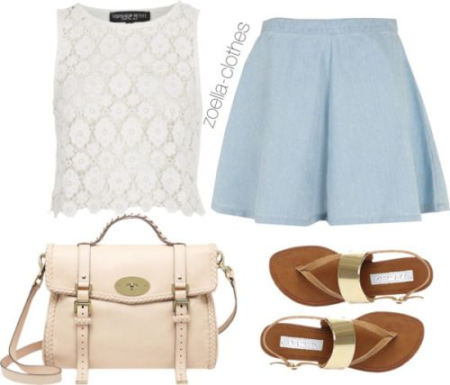 Untitled #127 by zoella-clothes featuring tall shirtsTopshop tall shirt / Topshop flared skirt / Steve Madden metallic sandals / Mulberry pink handbag