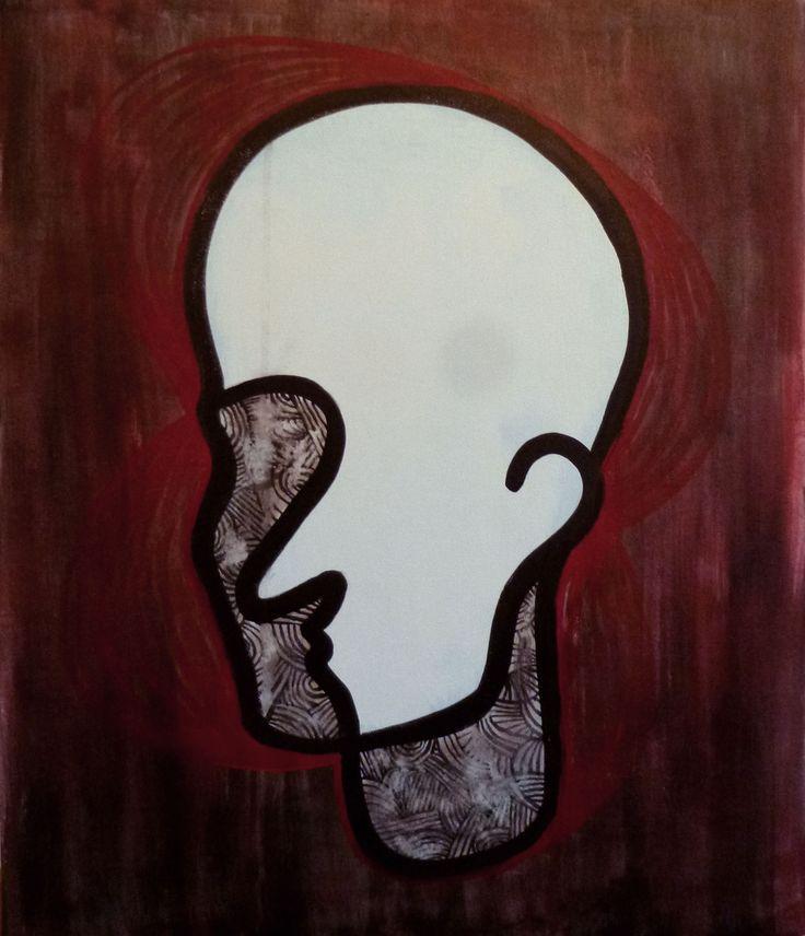 Acrylic Line Face - Line Face - acrylic on canvas - typeforce.org/