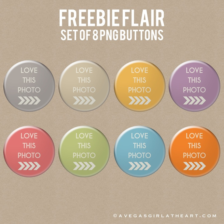 A Vegas Girl at Heart: Freebie Friday: Flair Buttons