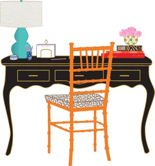 ffff: Watercolor, Logo, Desks Setup, White Spaces, Illustration, Interiors Design, Desks Matchbookmag, Orange Chairs, Style Blog