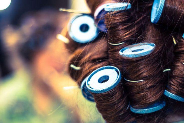 как накрутить волосы на бигуди липучки фото