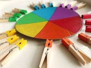 Activity Awakening The game of clothespins (Montessori