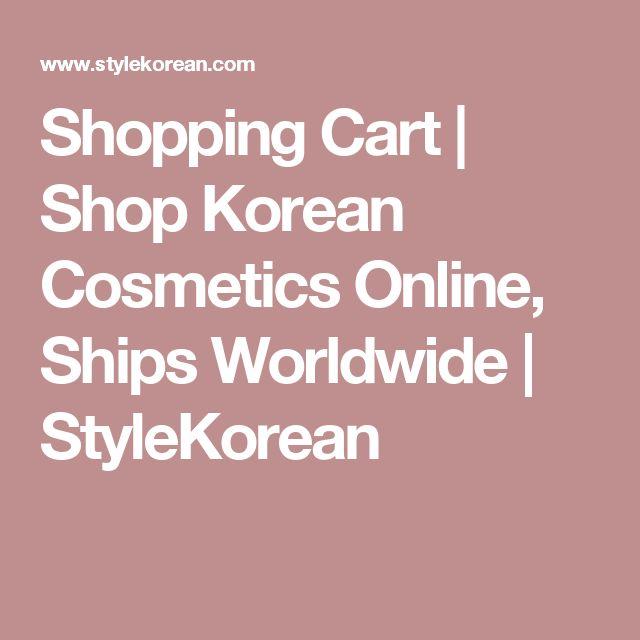 Shopping Cart | Shop Korean Cosmetics Online, Ships Worldwide | StyleKorean
