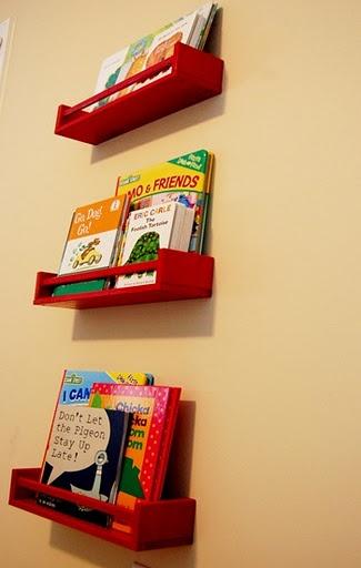 Ikea Hack- Kids Bookshelves from Ikea Spice Racks