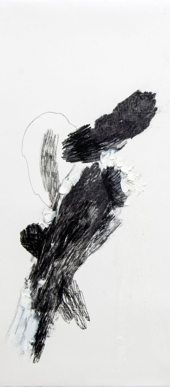 Lucy Jane Turpin, 'Untitled 32' (2016), Oil bar and charcoal on Arches,  57 x 24cm