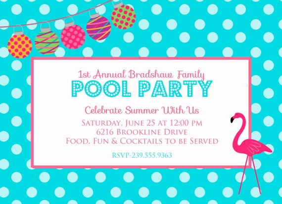 Best Party Invitations Images On   Pool Party