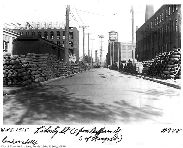 The edge of what is now Liberty Village in Toronto during WWI.