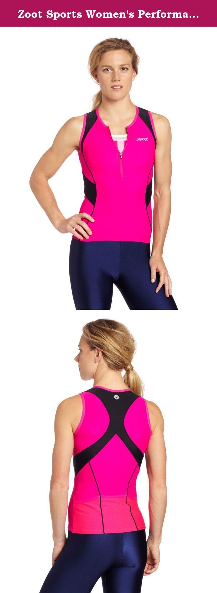 Zoot Sports Women's Performance Tri Tank Top. By design races are long and hard. And, by design, Zoot's triathlon apparel keeps you supported through all of it.