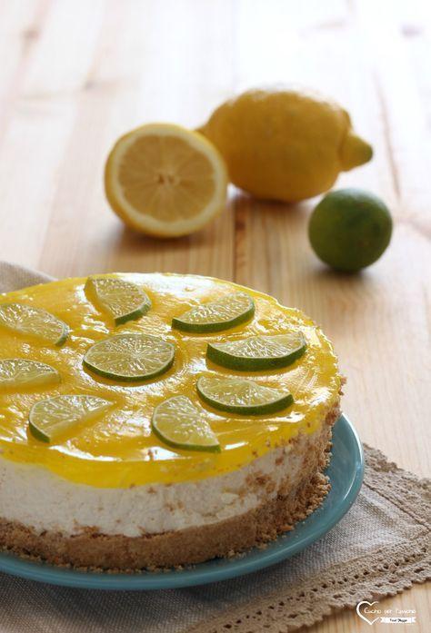 Torta fredda allo yogurt al limone