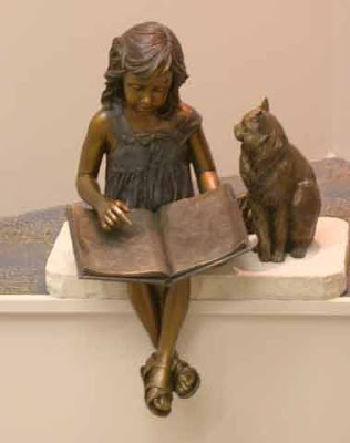 Pretty Cat Statues For  Year Old Girl