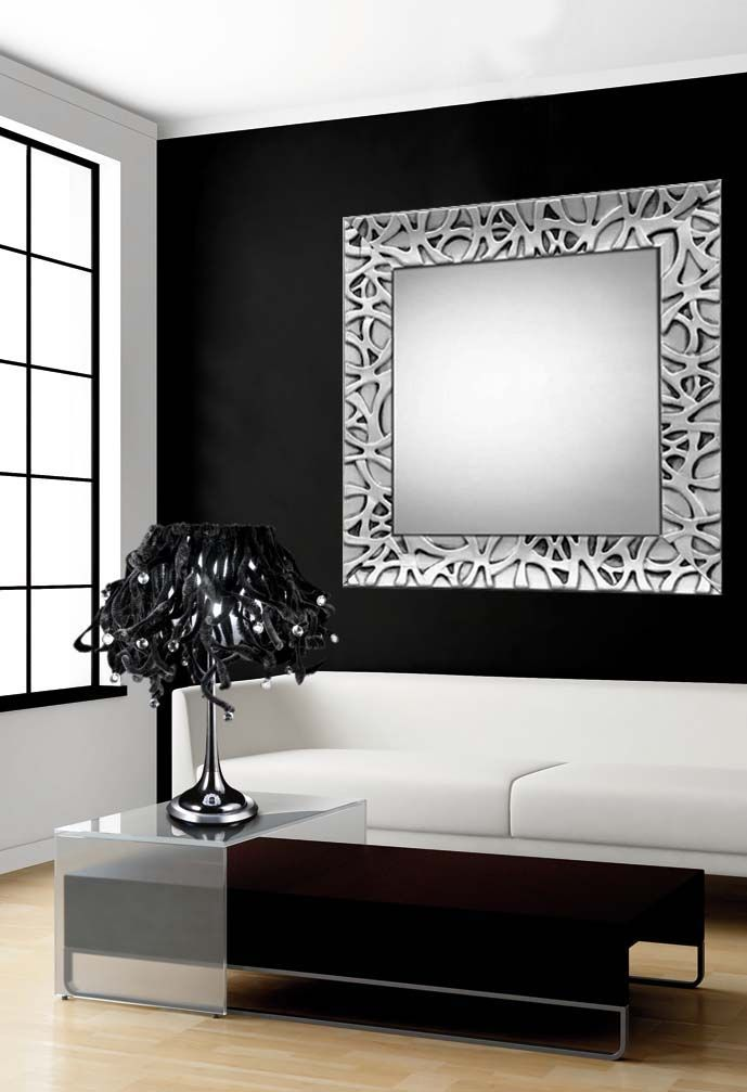 Espejos de madera a medida espejos de madera modelo algeciras plata - Espejos a medida ...