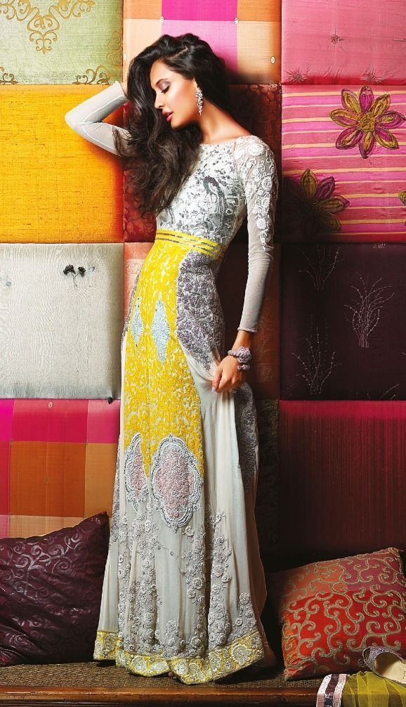 Even though this is an Indian wedding dress, this would be gorgeous for other occasions