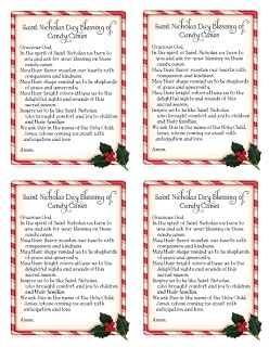 The Catholic Toolbox: Saint Nicholas Day Blessing of Candy Canes Prayer Card