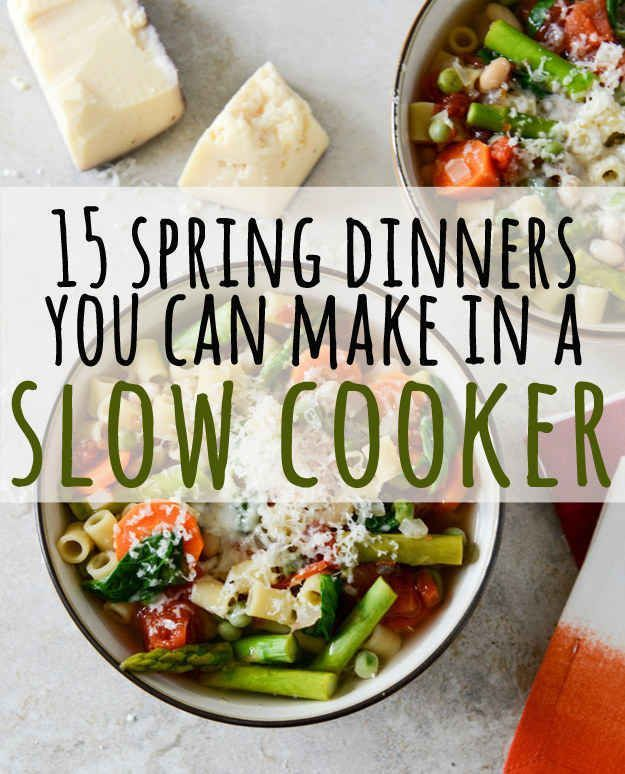 I can always use fresh slow cooker ideas! 15 Fresh Spring Dinners You Can Make In A Slow Cooker