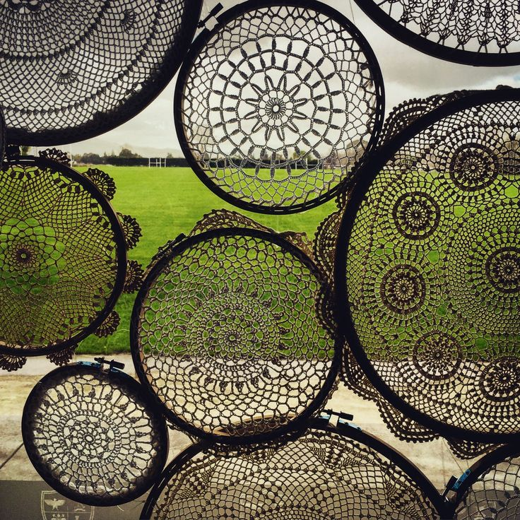 I have a large collection of lace doilies which can be joined to make a perfect boho backdrop
