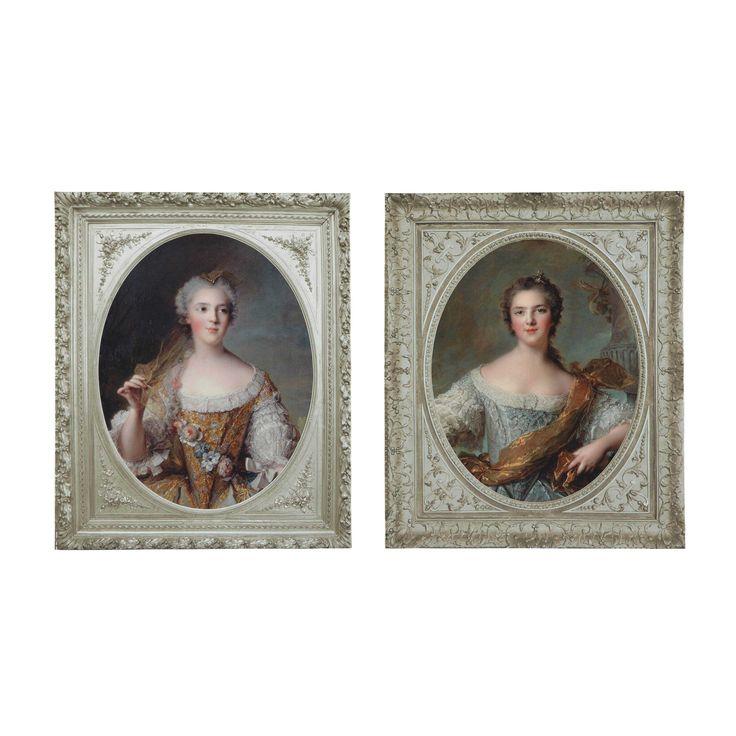2 MARKIEZINNEN houten doeken 50 x 60 cm | Maisons du Monde