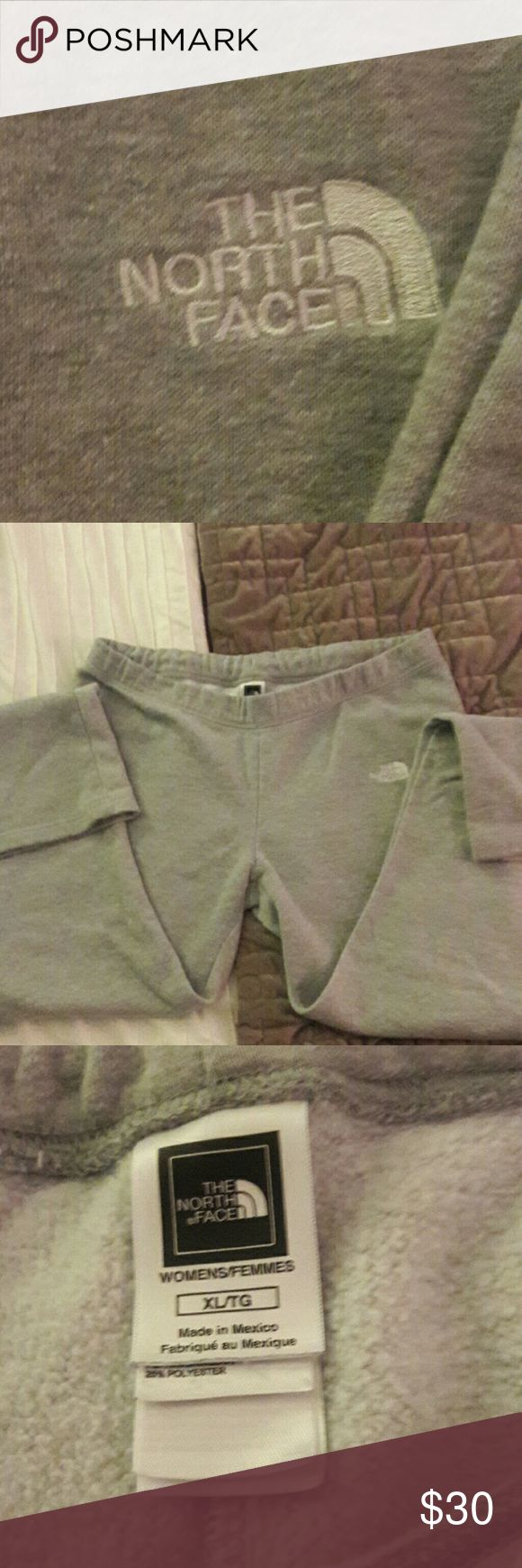 💞💕EUC North Face Sweats💞💖 💞💕Excellent used condition grey sweatpants by The North Face, women's size XL. There is extreme minor discoloration at the bottom hem in the back from the sweatpants dragging on the ground as these are pretty long. I'm 5'7 and they were long on me. Drawstring closure for adjustable fit. Love these, just too big on me. I ordered a medium. Take advantage of my closet clean out clearance sale. Check out my closet for bundling savings on designer items. All items…