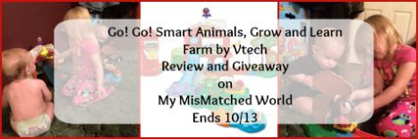 Go! Go! Smart Animals, Grow and Learn Farm by Vtech Review and Giveaway on My MisMatched World #giveaway #ad #hgg2015