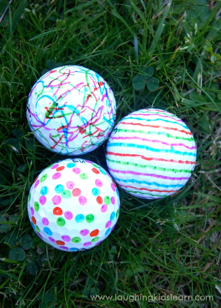 Decorated golf balls (Laughing Kids Learn blog)