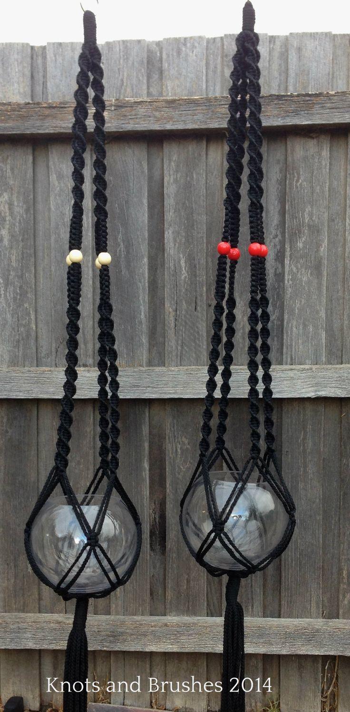 Macramé Hanging Baskets www.knotsandbrushes.com.au