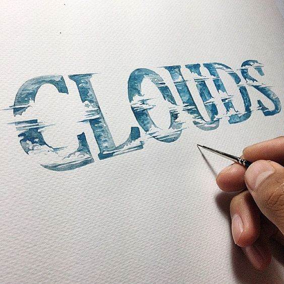 Clouds #hand_lettering