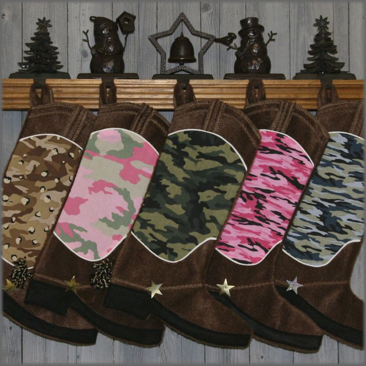 Camo Western Boot- Christmas Stocking Love this!
