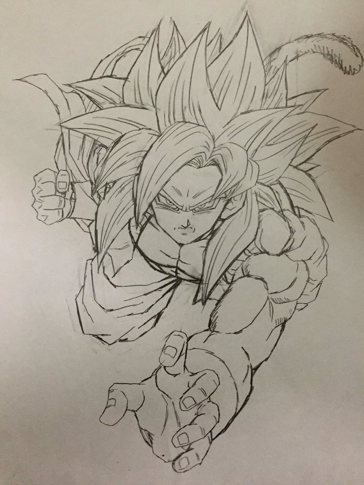 """Super Saiyan 4 Gogeta!"" Drawn by: Young Jijii! Found by: #SonGokuKakarot"