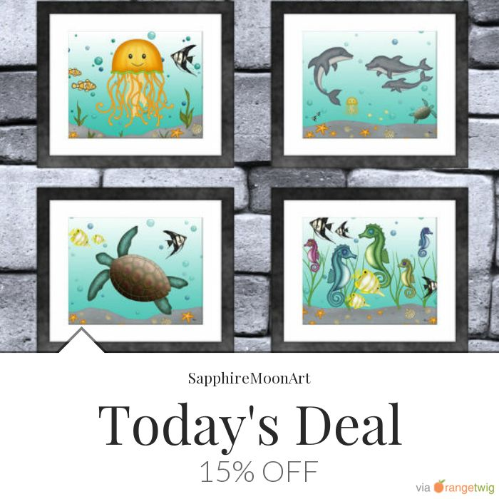 Today Only! 15% OFF this item.  Follow us on Pinterest to be the first to see our exciting Daily Deals. Today's Product: Sale -  Sea Creature Animal Print Set of 4 Buy now: https://small.bz/AAgLDwg #etsy #etsyseller #etsyshop #etsylove #etsyfinds #etsygifts #musthave #loveit #instacool #shop #shopping #onlineshopping #instashop #instagood #instafollow #photooftheday #picoftheday #love #OTstores #smallbiz #sale #dailydeal #dealoftheday #todayonly #instadaily #instasale