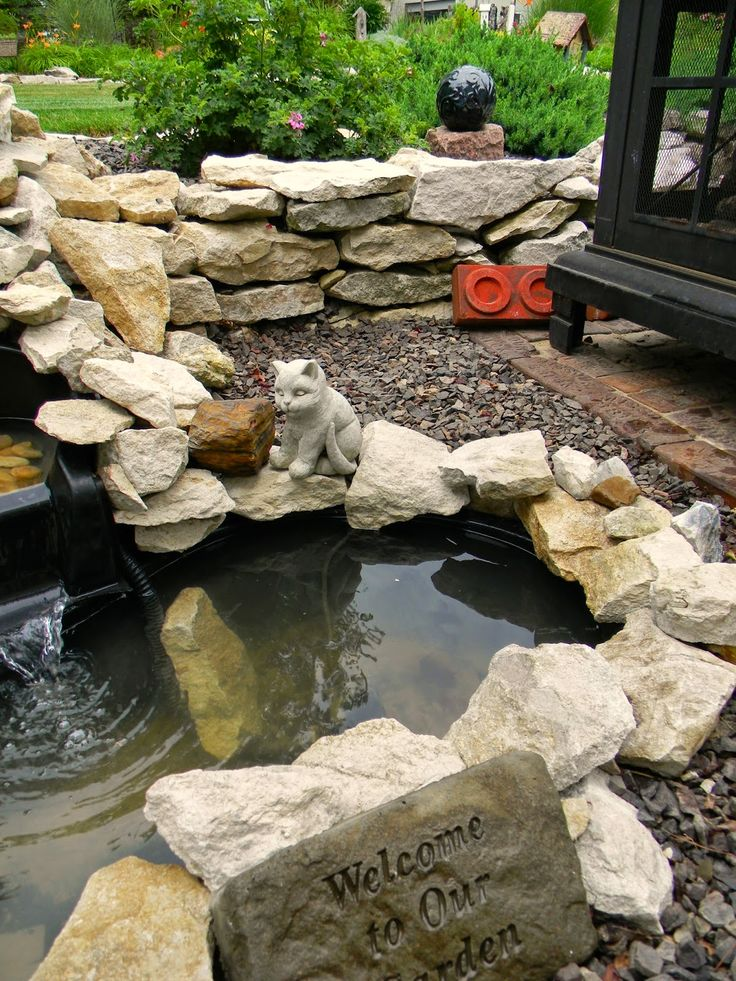 From fountain to pond ideas for the home pinterest ponds for Fountain pond liners