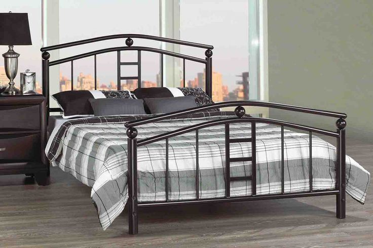 Shop this exclusive luxurious Black metal bed by ifdc available at just $265.99 and spruce up your bedroom.