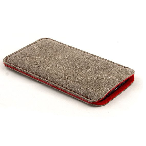 Leather iPhone case. Sand color iPhone 5 sleeve. Aged by JACCET, $34.50