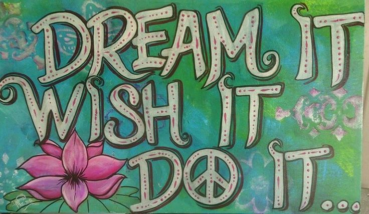"""DREAM IT..WISH IT.. DO IT.."" Peace plaque Hand painted..51cm x 29cm..Twisted Copper wire hanger..$40 www.etsy.com/shop/pohcreations"