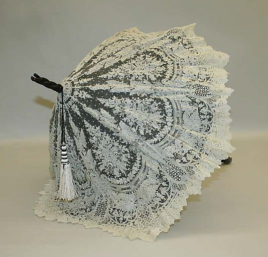 Parasol  Date: late 19th century Culture: American Medium: silk, metal