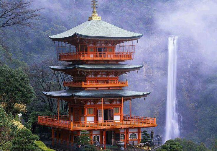 Seiganto-ji & Nachi Falls in Wakayama, Japan https://en.m.wikipedia.org/wiki/Seiganto-ji https://en.m.wikipedia.org/wiki/Nachi_Falls